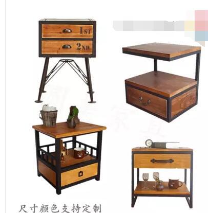 American Retro Bedside Table Bedside Storage Storage Cabinet Nordic Industrial Wind Loft Sofa Side A Few Small Coffee Table.