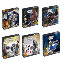 цена на STAR WARS Building Blocks Royal Army Transport Aircraft Clone Troops Trooper Mini Bricks Figures Toys Compatible with legoINGly