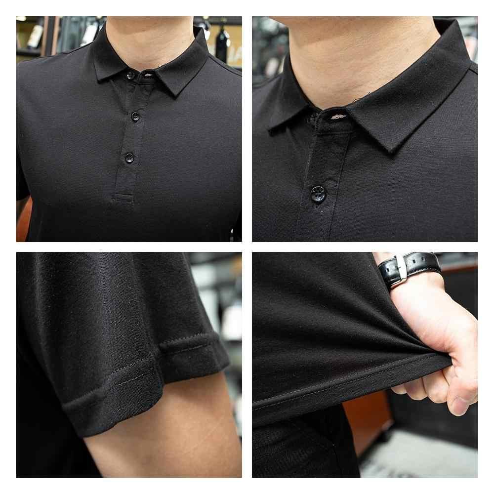 2019 新ブランドポロシャツ男性夏半袖高品質の綿のファッションカジュアルポロシャツオムカミーサプラスサイズ XXXL トップス