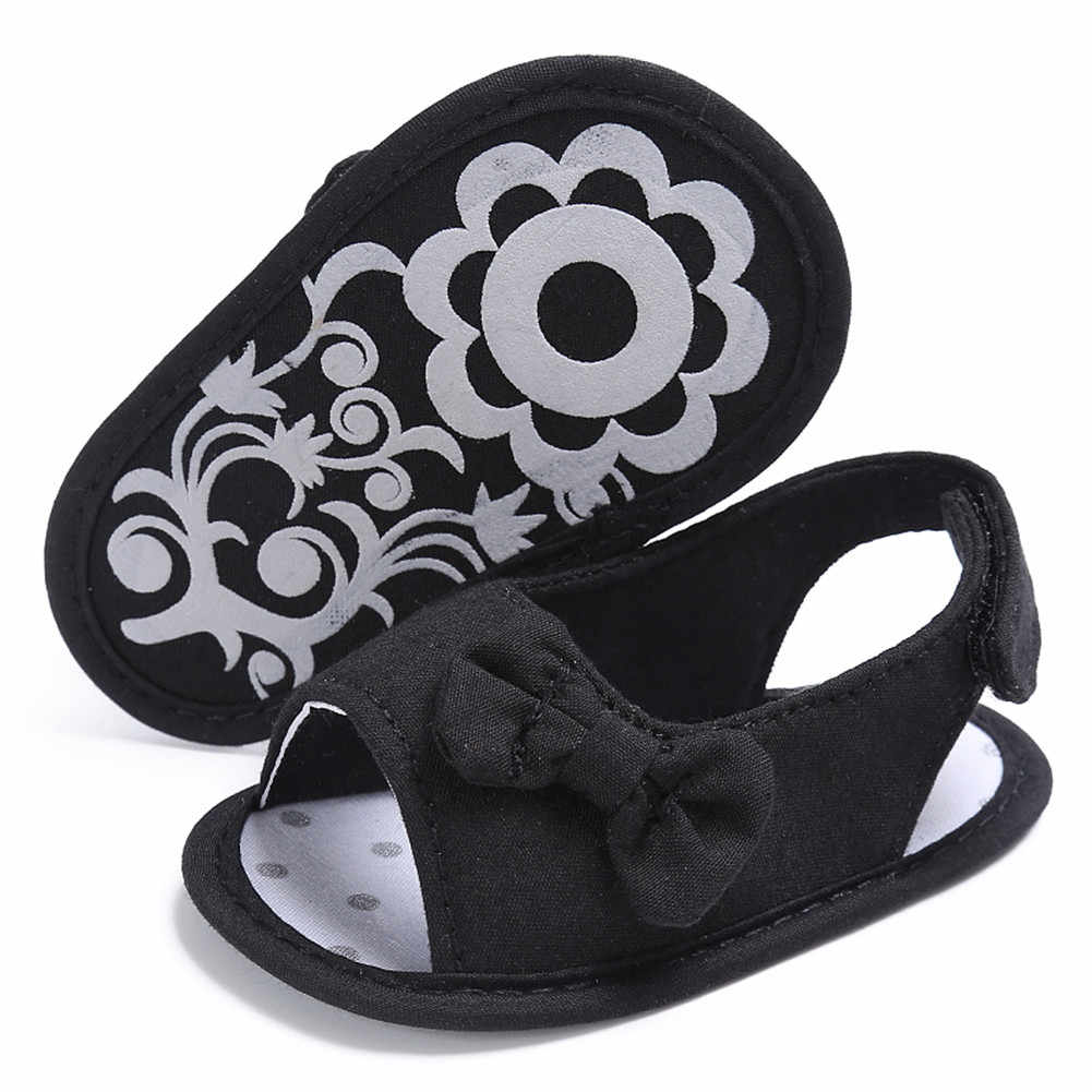 a0801678213 ... Summer Newborn Baby Girl Shoes Sandals Bowknot White Black Toddler  Infant Sandals Soft Crib Shoes 0 ...