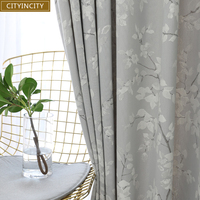 CITYINCITY JAQ Fabric Curtains For living room 3D Blackout Curtain for Kitchen and Bedroom Drapes ready made curtain Customized