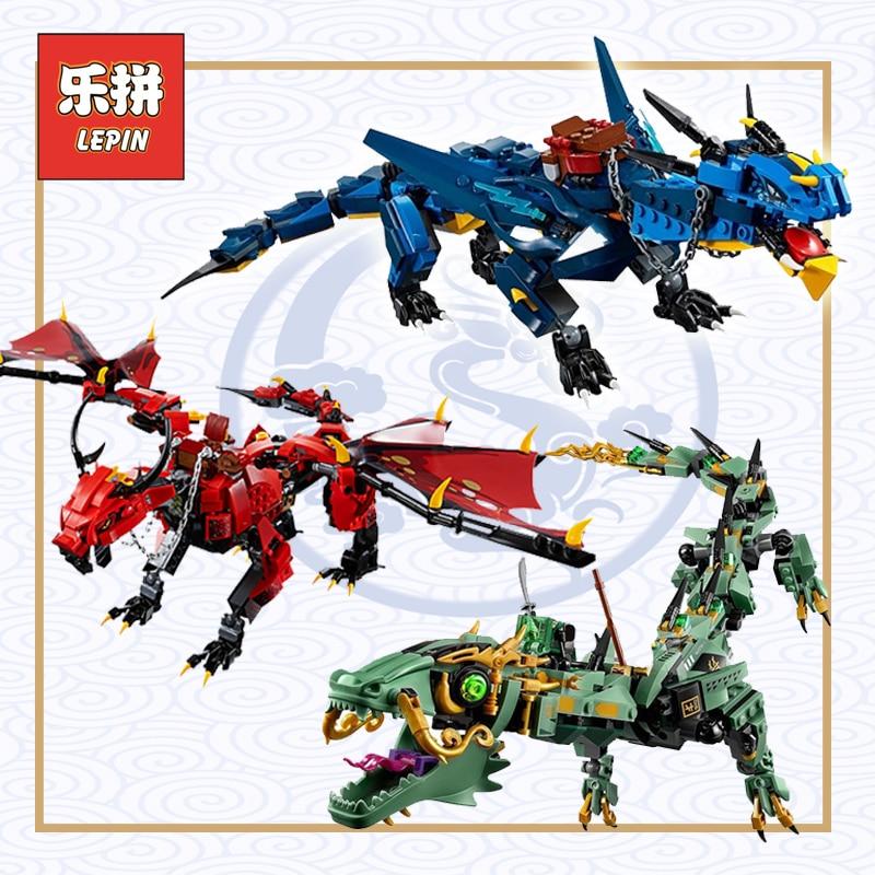 Lepin Ninja di Volo Mecha Drago Stormbringer Set 70652 70612 Blocchi di Costruzione Legoings Ninjagoings Drago Per Bambini FAI DA TE Giocattolo Regalo
