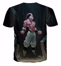 Classic Anime Dragon Ball Z t shirts Cool Majin Buu 3D t shirt Harajuku tee shirt Men Women Summer tshirts tops