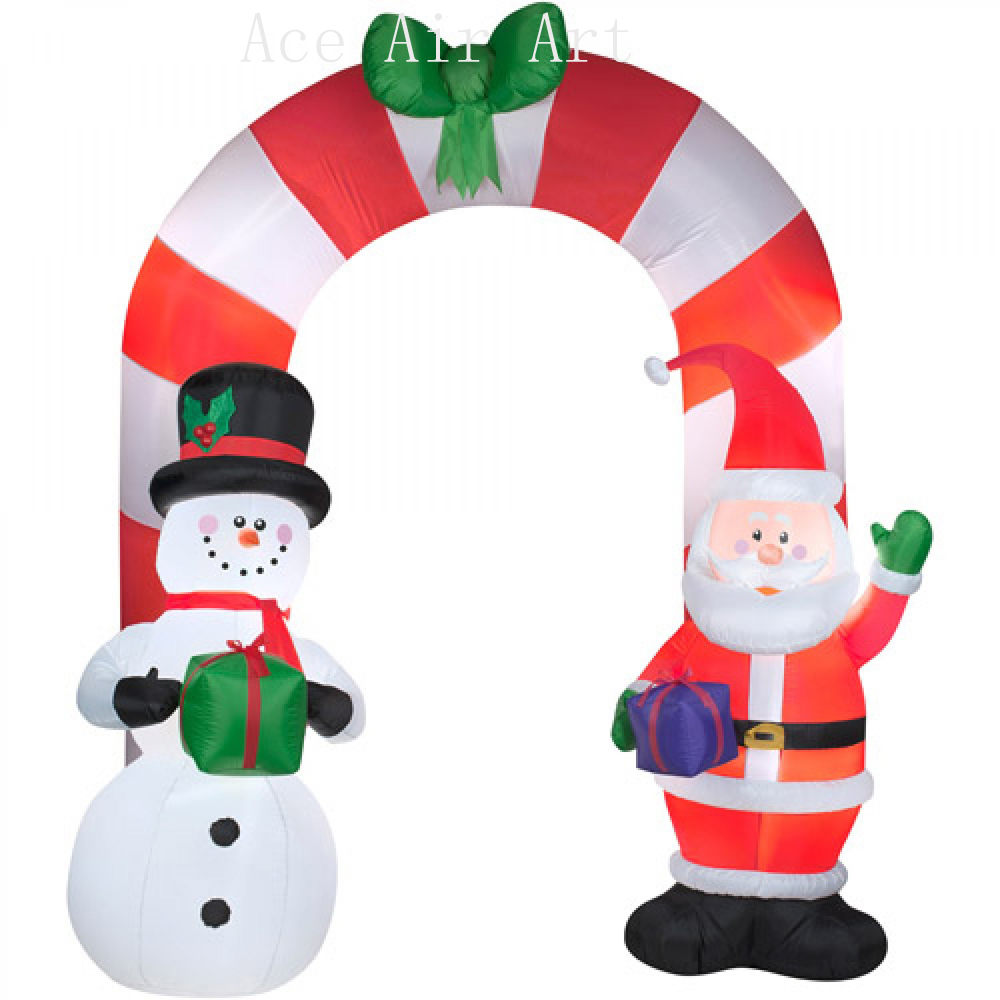 free fans Christmas santa airblown inflatable archway for decoration ...
