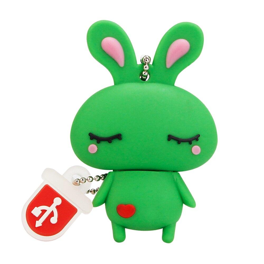 Creative Usb Flash Drive Cute Cartoon Rabbit 4GB 8GB 16GB 32GB Pen Drive High Speed Usb Stick 64GB 128GB Pendrive Free Shipping (6)