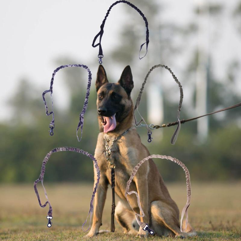 Nylon Taktische Militärische Armee Polizei Hundeleine Elastische Bungee gürtel Waren für Hund Multicolor Haustiere Kragen und Leitungen hund