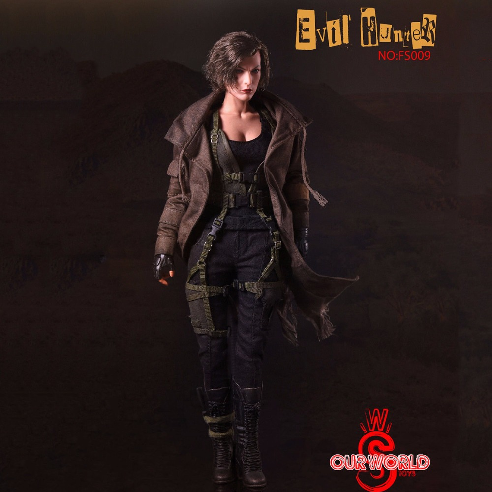 Movie SW Our world 1/6 Scale Evil Hunter Alice Action Figure Full Set FS009 Collectible With Weapon Model collectible 1 6 jill valentine action figure resident evil model toys feamle full set figures in stock