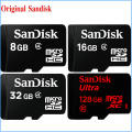 Original Sandisk Micro SD card 8GB 16GB 32GB Class4 128GB class 10 memory card + gift adapter plastic box  for phone VR