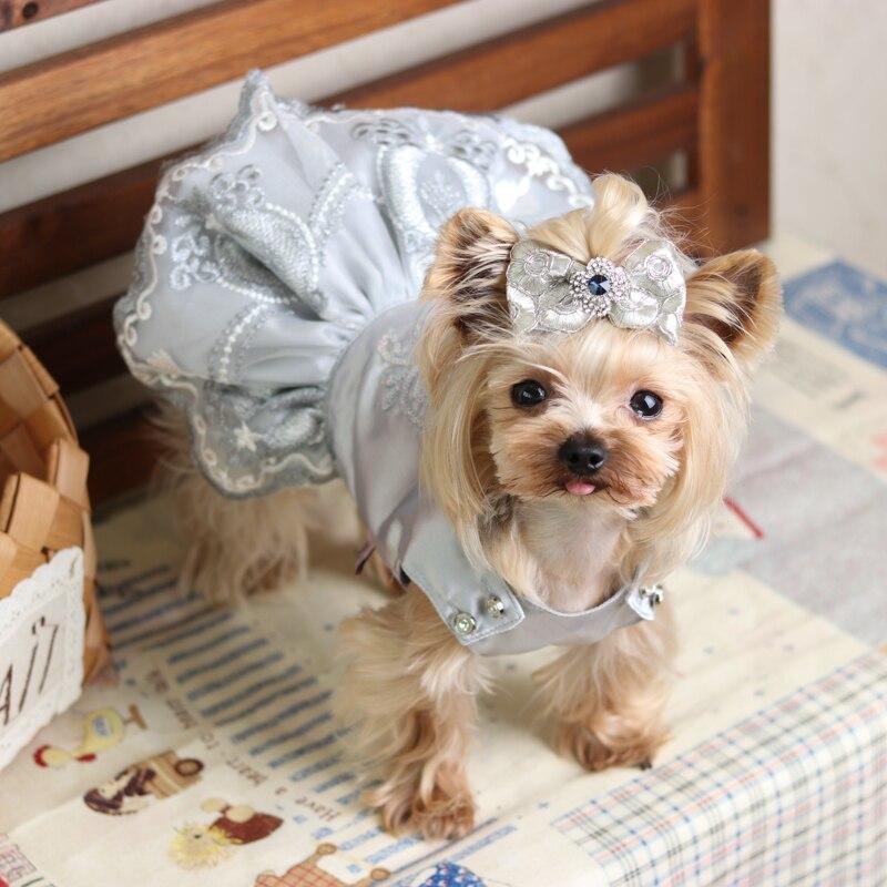 Robes de luxe haut de gamme mariage princesse Banquet chien vêtements pour animaux de compagnie automne printemps Bomei Chihuahua Yorkie Maltese