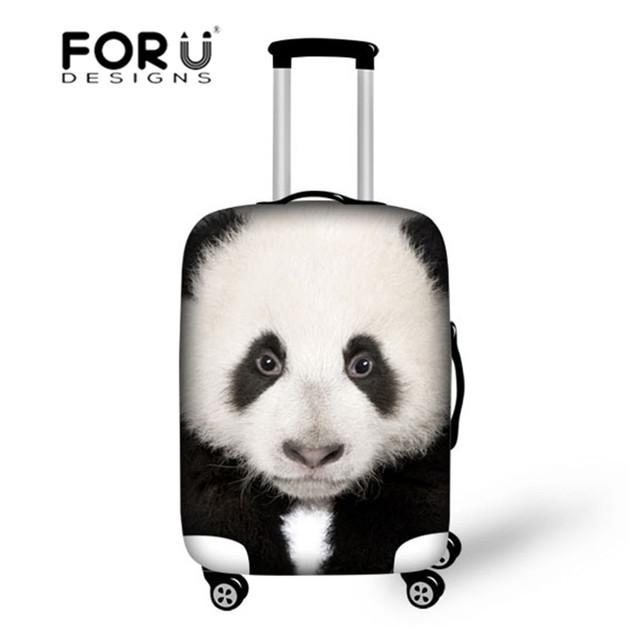 Panda bonito capa strentch elástica bagagem de viagem capas protetoras suitcase18/20/22/24/26/28/30 polegada caso poeira chuva maleta viaje
