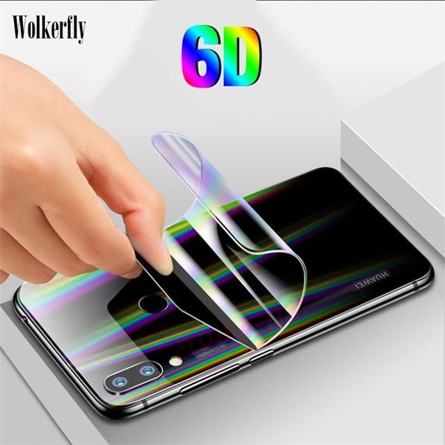 6D hidrogel de película para Huawei P30 Lite P20 amigo 20 Lite 20X Mate 10 Pro brillante frente a la película para huawei Honor 10 8X (no vidrio)