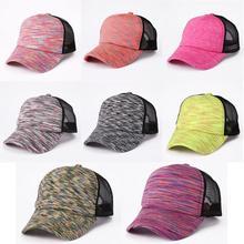 Beret Cap Spring Summer Breathable Mesh Golf Ivy Hats Adjustable Men Women  adjustable flat cap ponytail f9120cd13569