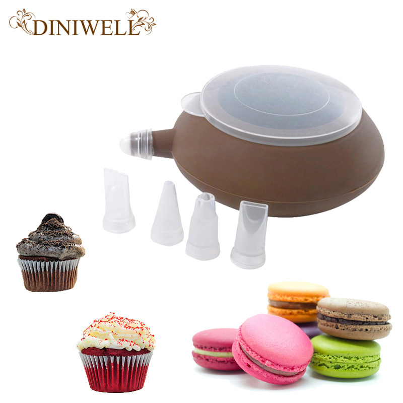 Diniwell kitchen decorating tip sets decorative silicone for Kitchen set cake