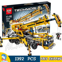 1392pcs Techinic 2in1 Mobile Crane Arms DIY 8 Truck 20040 Wheels Model Building Blocks Collection Toy Brick Compatible With Lego