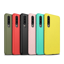 Wheat straw mixed TPU Phone Case For Huawei P30 Pro Lite Nova 4e Soft Anti-knock Shock-proof Cover Frosted Anti-fingerprint все цены