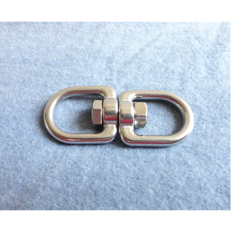 20 Pieces/Lot Stainless Steel Swivel Eye  Hook  Loop Hoop Link Dog Lead Collar Chain Clasp