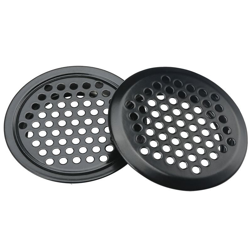 4pcs Black Color Cabinet Air Vent Louver Mesh Hole Round Stainless Steel Flat Surface Convex Surface 19mm/25mm/30mm/35mm/53mm
