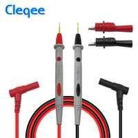 Cleqee P1502B sonde universelle multimètre fils de Test multi-testeur aiguille pointe plomb match avec pinces Alligator câble stylo