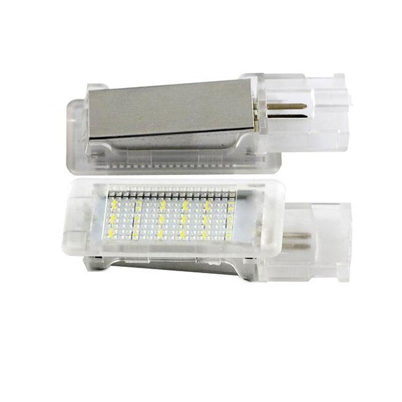 2x Светодиодная лампа для двери, освещение для интерьера, освещение для Caddy CC EOS Jetta Passat Polo Tiguan Touareg Seat Skoda LED