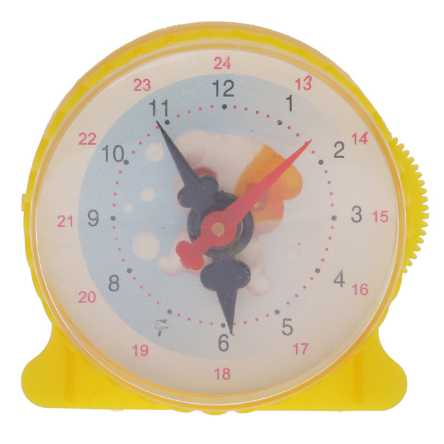 Science Equipment DIY Assembly Yellow Clock Home Office Room Cafe ...