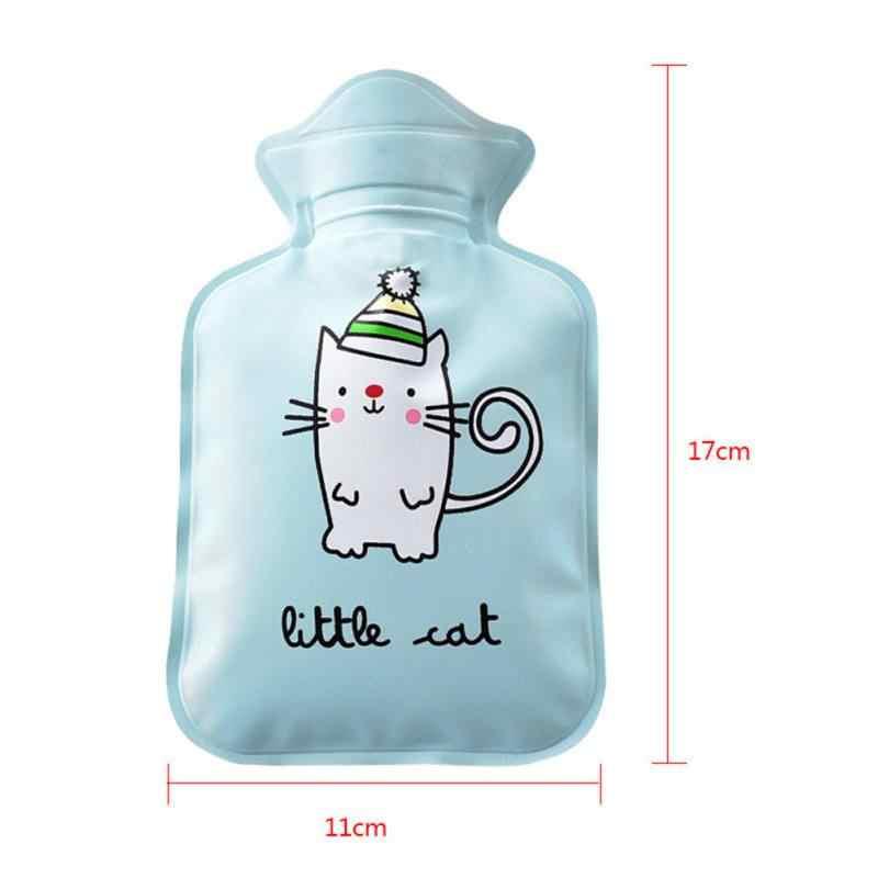 Мультфильм печатных мини для хранения бутылок с горячей водой инъекции воды взрывозащищенный теплый, с подогревом мешок для рук ноги живота