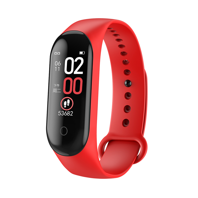 Bakeey M4 Max IPS Color Screen Wristband IP68 Waterproof Blood Pressure Oxygen Monitor Long Standby Fitness Smart Band Wristband
