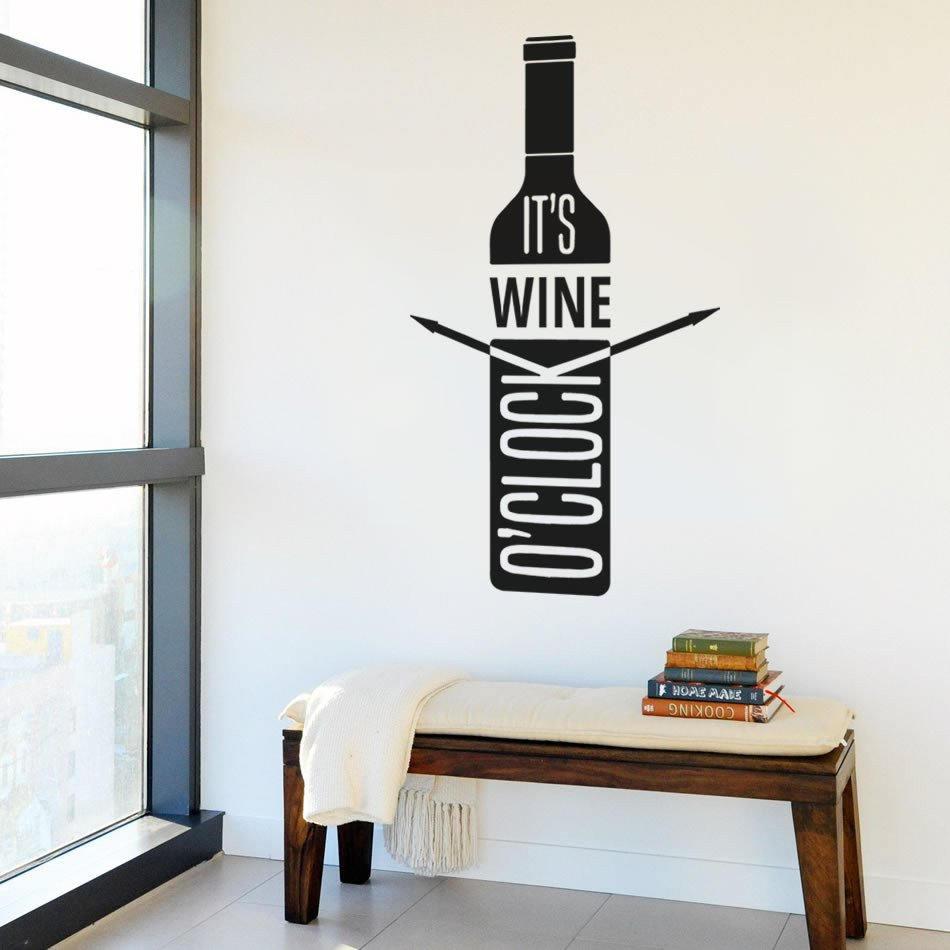 Wine Themed Kitchen Paint Ideas: Wine Themed Wall Clock