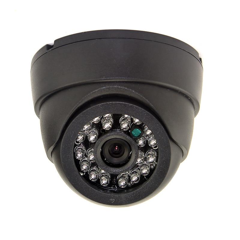 1000TVL Analog CMOS Color Cctv Camera 24pcs Ir Led 3.6mm Lens Ir Dome Indoor CCTV Camera  Security Camera