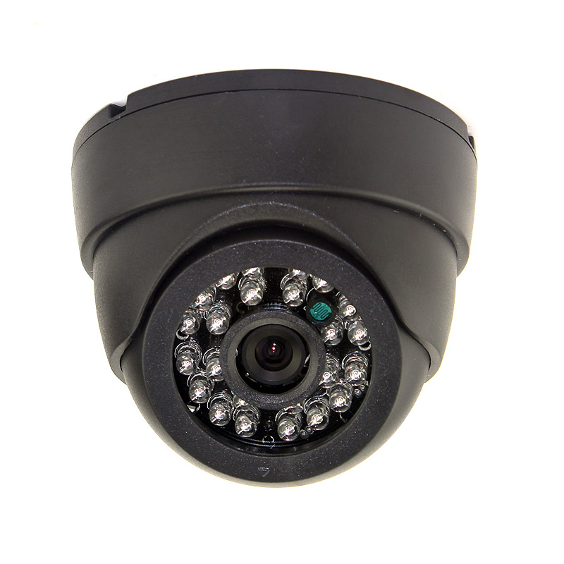 1000TVL analog CMOS color cctv camera 24pcs ir led 3.6mm lens ir dome indoor CCTV Camera security camera