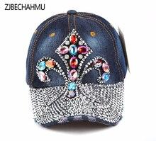 Casual New Solid Vintage Denim Adjustebla Colorful Floral Baseball Caps For Women Girl  Snapback Hat Summer Cap Hip Hop Hats