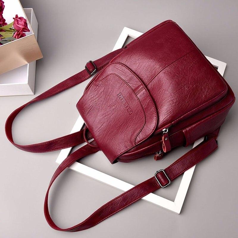 HTB1nnMQajnuK1RkSmFPq6AuzFXam 2019 Female Leather Backpacks High Quality Sac A Dos Ladies Bagpack Luxury Designer Large Capacity Casual Daypack Girl Mochilas