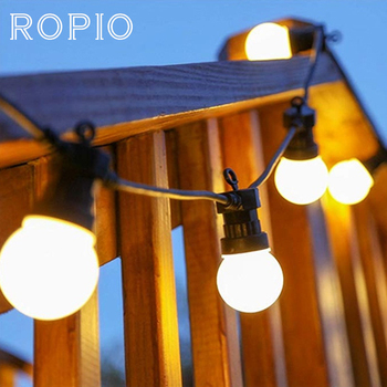 ROPIO 8 м 13 м G50 светодиодный Глобус лампы гирлянда огни Открытый водонепроницаемый шар гирлянда Рождество Гирлянда Свадьба сад Вечерние