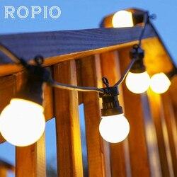 ROPIO 8 m 13 m G50 LEVOU Globo Bulbo Festão Luzes Da Corda Ao Ar Livre Corda Bola Guirlanda De Natal Do Casamento Do Jardim À Prova D' Água partido