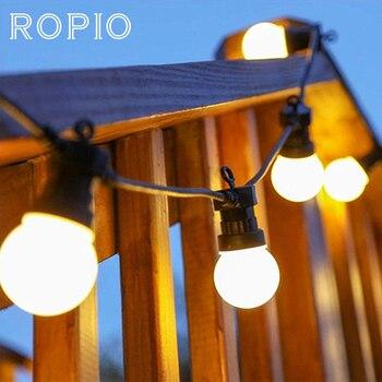Ropio 8 M 13 M G50 LED Bulb Globe Membangun String Lampu Luar Ruangan Tahan Air Bola String Natal Garland Pernikahan Taman pesta