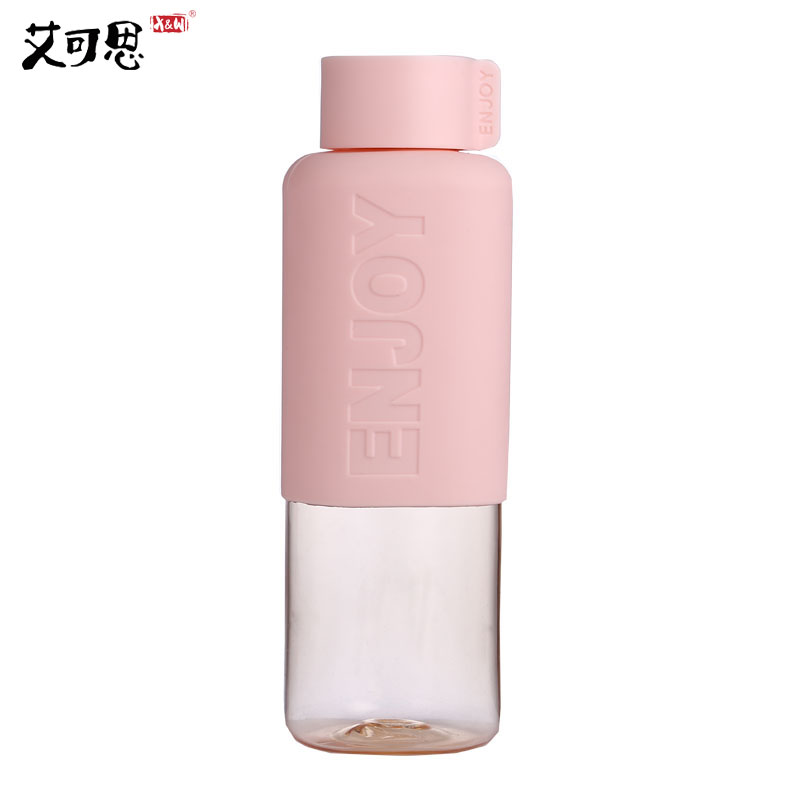 500ml Water Bottle My Plastic Water Bottle Brief Eco-friendly Hiking Candy Color Silicone Tumbler Set Gift Outdoor Travel
