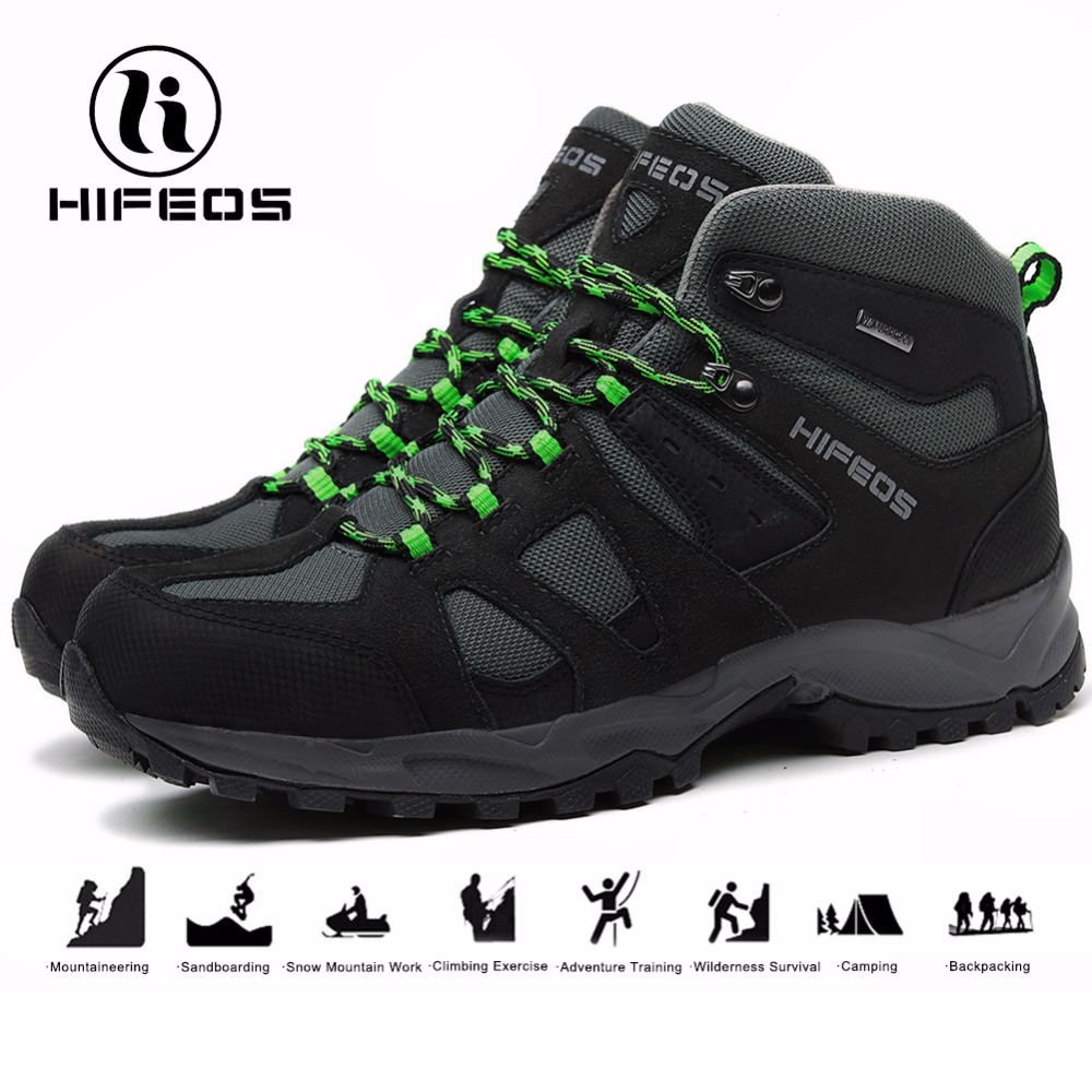 HIFEOS men's tactical hiking boots non-slip tourism breathable mountaineering sneakers camping shoes outdoor sports climbing military camouflage boots desert tactical hiking shoes non slip breathable boots outdoor climbing camping sneakers