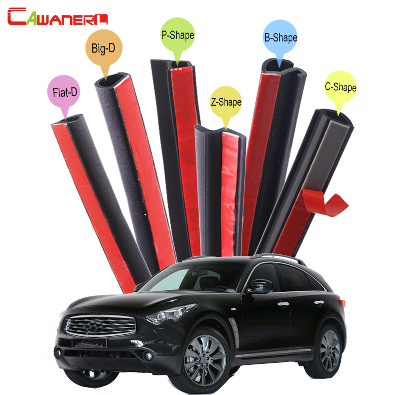 Cawanerl Car Door Hood Trunk Seal Sealing Strip Kit Rubber Weatherstrip Seal Edge Trim For Infiniti FX FX35 FX37 FX45 FX50