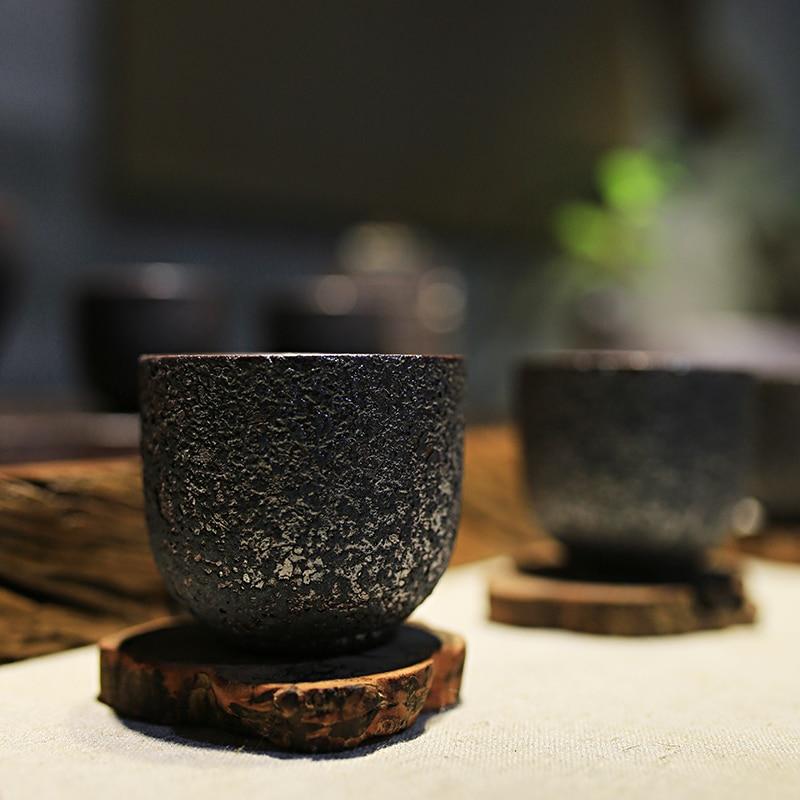 Vintage Pottery Rust Glaze Teacups 2