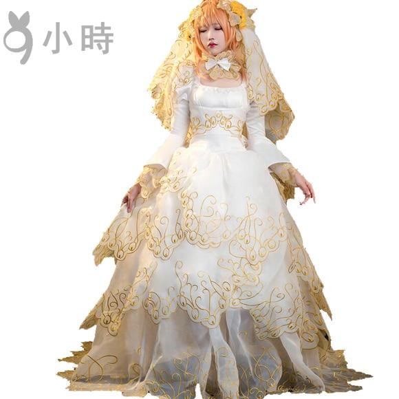 Cosplay Japanese Anime Tsubasa Resevoir Chronicle SAKURA HIME - Anime Wedding Dress