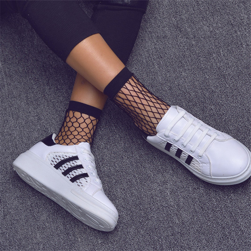Punk-Women-Girls-Sexy-Black-Hollow-Out-Breathable-Mesh-Fishnet-Socks-Female-Gothic-Stretcery