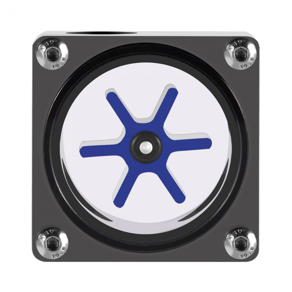 6 Impeller 3 Ways Flow Meter Indicator for PC Water Cooling System G1/4 Thread Computer Water Cooling 6 Way Flow Meter