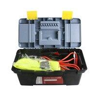 Top Emergency Roadside Assistance Kit Survival Bag Jumper Cable Safety Vest Screwdriver Anti Slip Gloves Escape