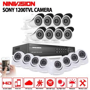 16CH AHD 1080N 1080 p DVR CCTV Home Security Kamera System 16 stücke IR Indoor outdoor 1200TVL Video Überwachung nacht vision kit