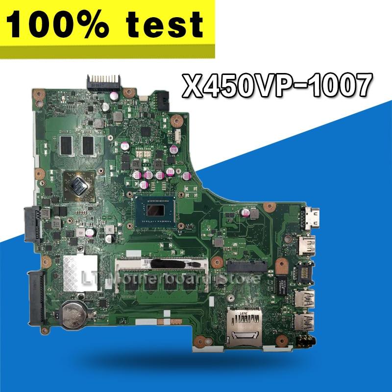 X450VP Motherboard 1007cpu/4GB RAM For ASUS A450V Y481C X452C D452C K450C Laptop motherboard X450VP Mainboard X450VP Motherboard цена