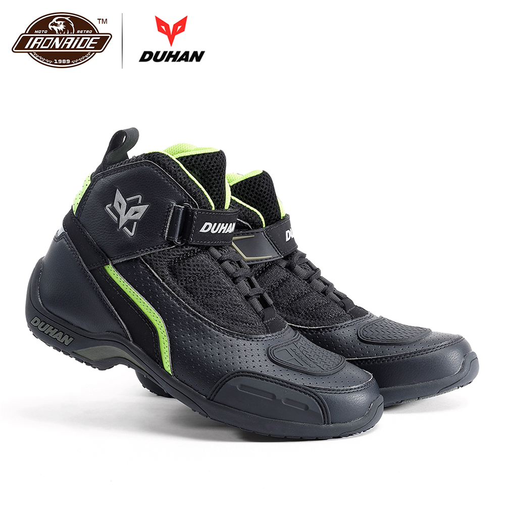 DUHAN Men Motorcycle Boots Motorcycle Shoes Breathable Motocross Boots Riding Off Road Racing Moto Boots 3