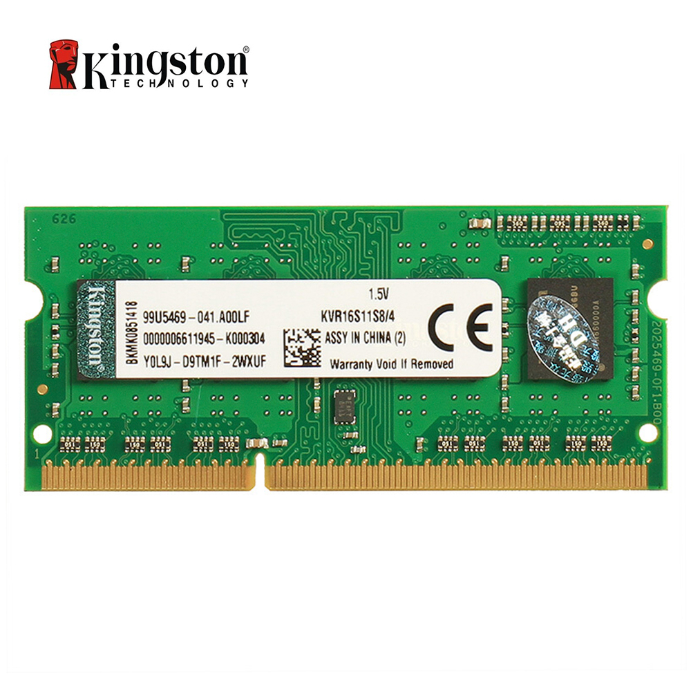 Kingston ValueRAM <font><b>4GB</b></font> 1600MHz PC3-12800 <font><b>DDR3</b></font> Non-ECC CL11 <font><b>SODIMM</b></font> SR x8 Notebook Memory KVR16S11S8/4 image