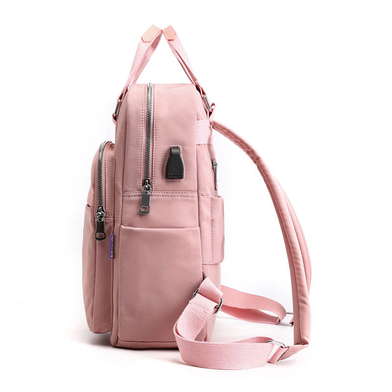 2020 VIP Fashion Multi-pocket Ladies Backpacks Large Capacity Women Backpacks Famous Brand Solid School Bag For Teeanger Girls 2