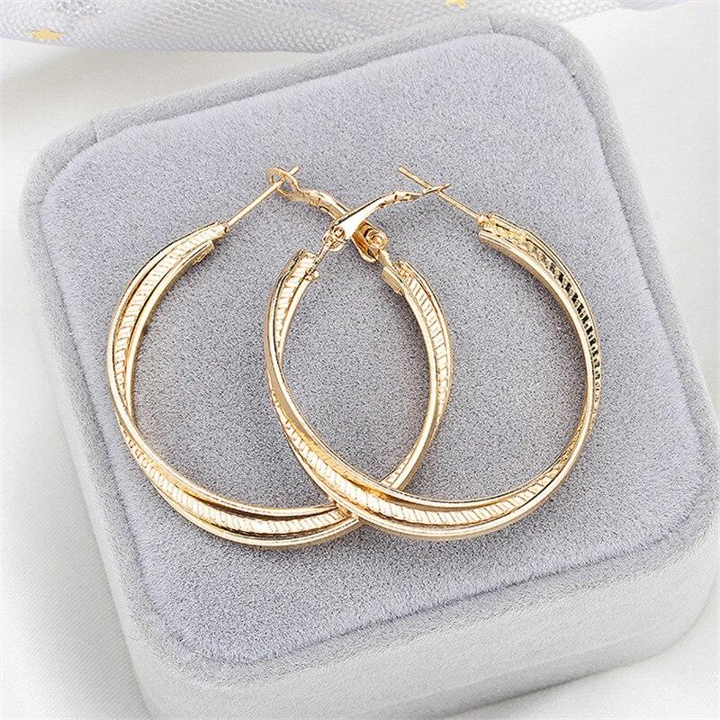 Женские Крупные круглые серьги-кольца