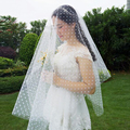 Special Soft Tulle Wedding Veil Dot Polka Bridal Veil Dress In Stock Can be 1 Layer or 2 Layers