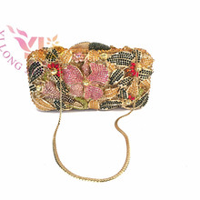 Women Rhinestone Flower Bag Event/Party/Evening Clutches Bag Multi Color YLS-F64